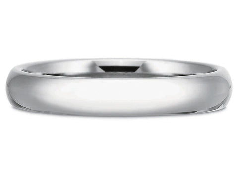 14K White Gold and Diamond Men's Wedding Band