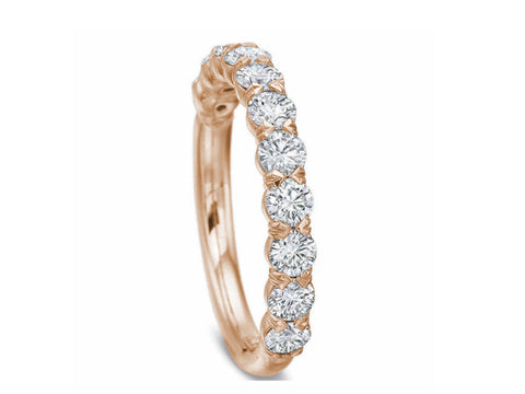 18K Yellow Gold and Diamond Eternity Wedding Band
