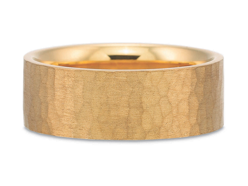18K Rose Gold Men's Wedding Band