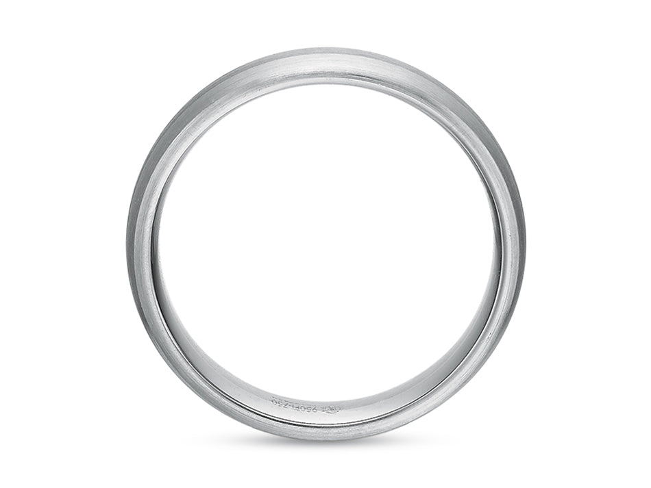 Platinum and 18K White Gold Men's Wedding Band