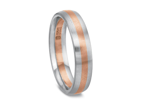 18K Rosewood Gold Men's Wedding Band