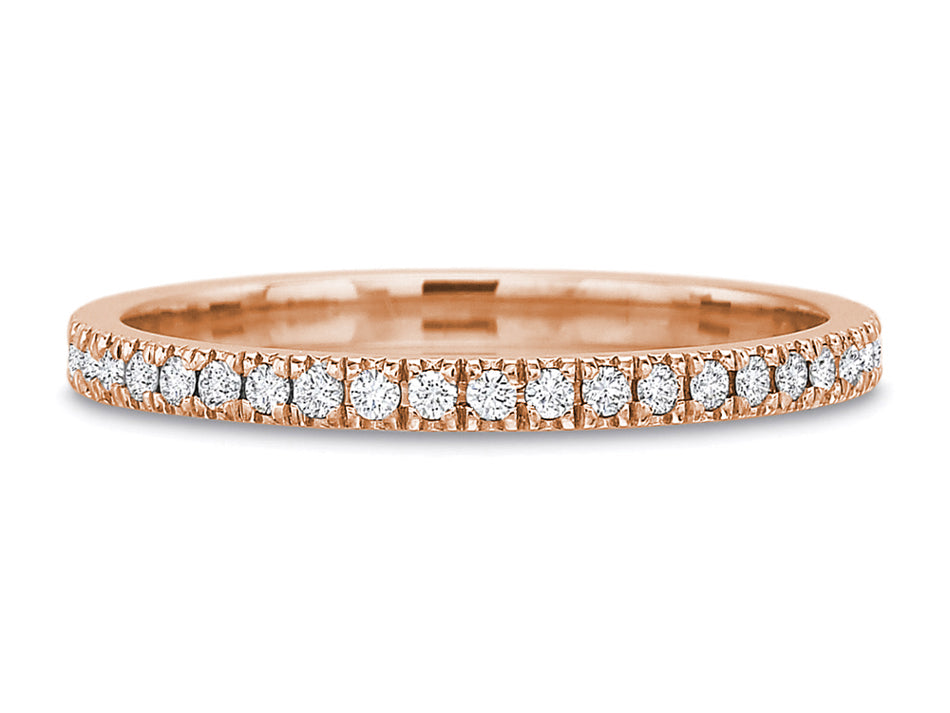 Diamond Eternity Wedding Band in Rose Gold