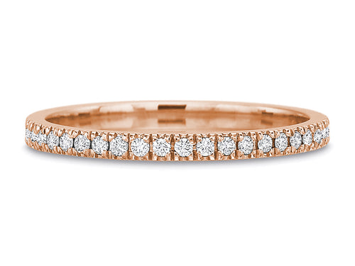 18K Rose Gold and Diamond Wedding Band