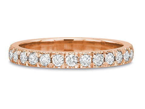 18K Rose Gold and Diamond Eternity Wedding Band