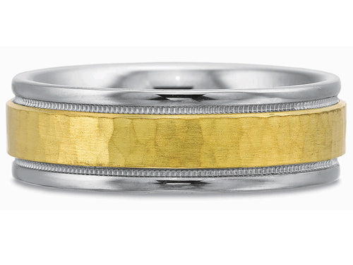 Gold and Palladium Men's Wedding Band in Washington DC
