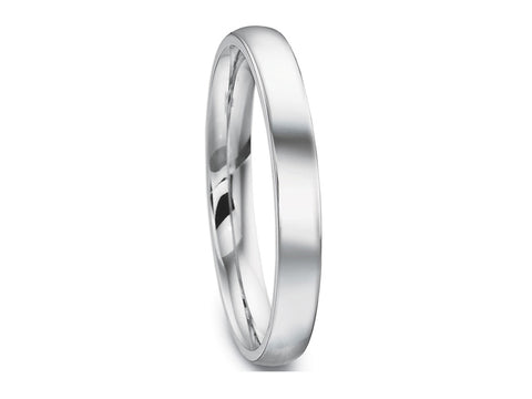 18K White Gold and Carbon Fiber Men's Wedding Band