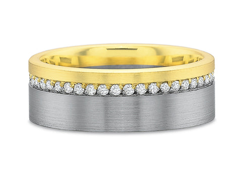 "18K Yellow Gold and Diamond ""Stella"" Wedding Band"