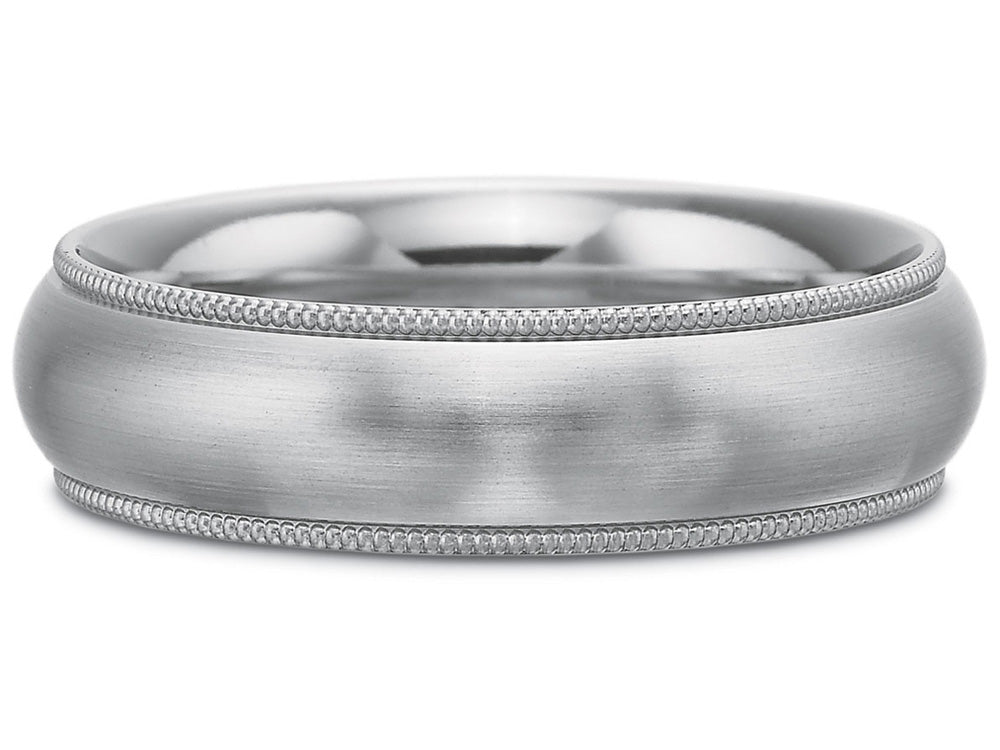 14K White Gold Men's Wedding Band at the Best Jewelry Store in Washington DC