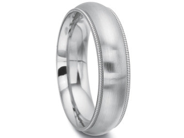 14K White Gold Men's Wedding Band in Washington DC