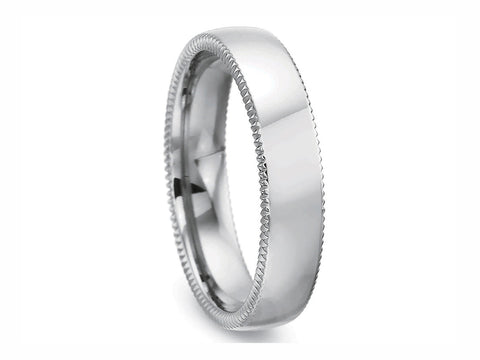 Sterling Silver Men's Wedding Band