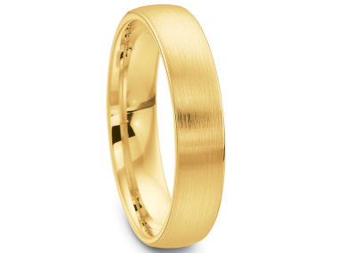 18K Yellow Gold Men's Wedding Band
