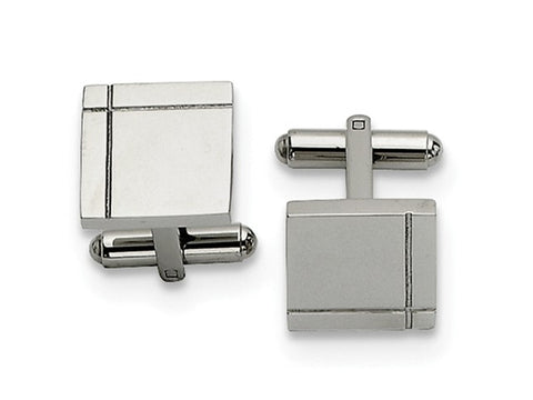 Partially Oxidized Pure Silver and Sterling Silver Cufflinks