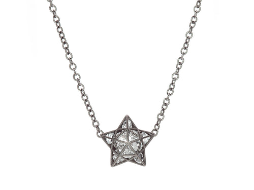 Floating White Sapphire Astral Necklace