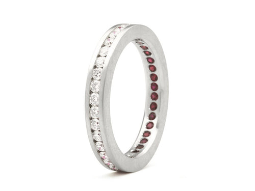 Platinum, Diamond and Ruby Wedding Band