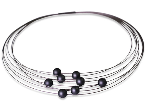 Multi-Strand Coil Necklace with Aluminum Beads