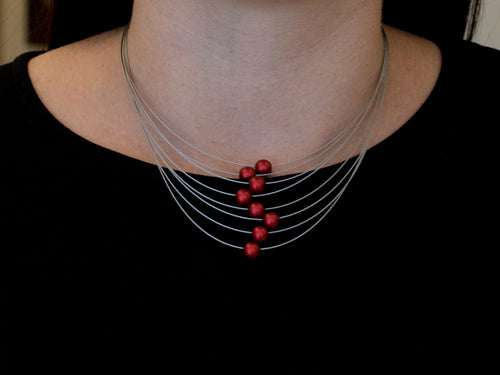 Harmony Red Bead Necklace