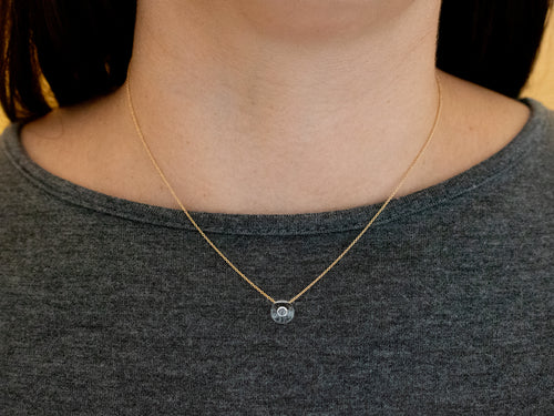 Glass and diamond necklace