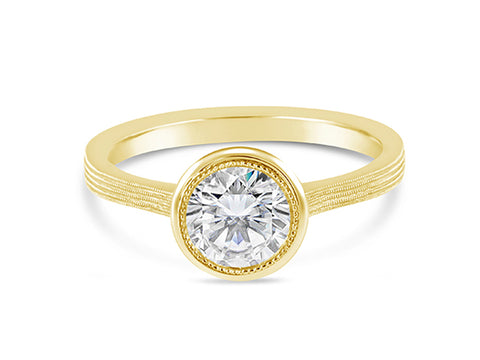 "18K Yellow Gold and Diamond ""Caroline"" Engagement Ring"