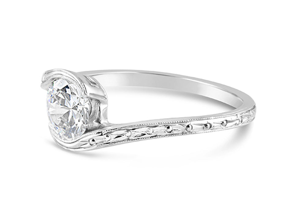 Platinum Solitaire Engagement Ring at the Best Jewelry Store in Washington DC