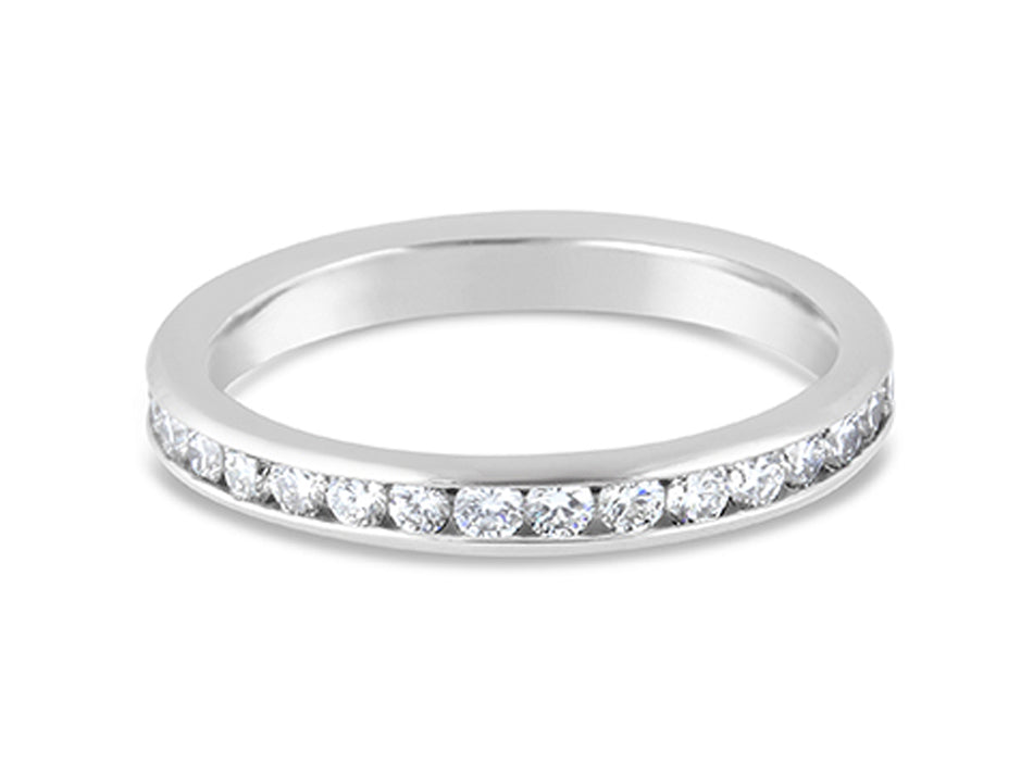 Platinum and Diamond Eternity Wedding Band