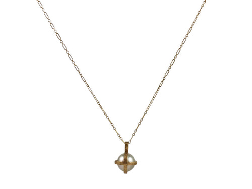 14K Yellow Gold and Akoya Pearl Pendant Necklace