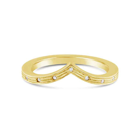 "18K Yellow Gold Contour ""Grace"" Wedding Band"
