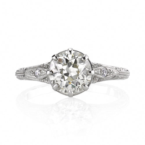 "Platinum and diamond ""Nicole"" Engagement Ring"