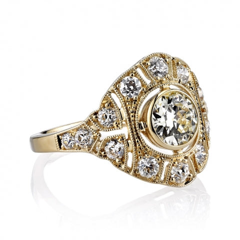 "Single Stone 18K Yellow Gold and Diamond ""Renee"" Engagement Ring in Washington DC"