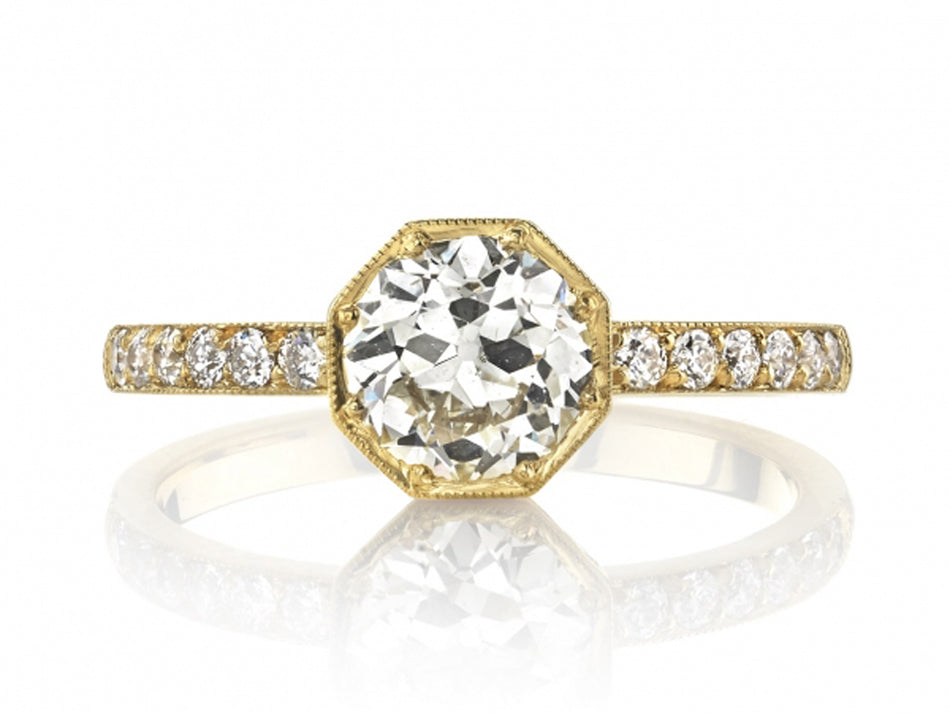 "18K Yellow Gold and Diamond ""Emerson"" Engagement Ring in Washington DC"