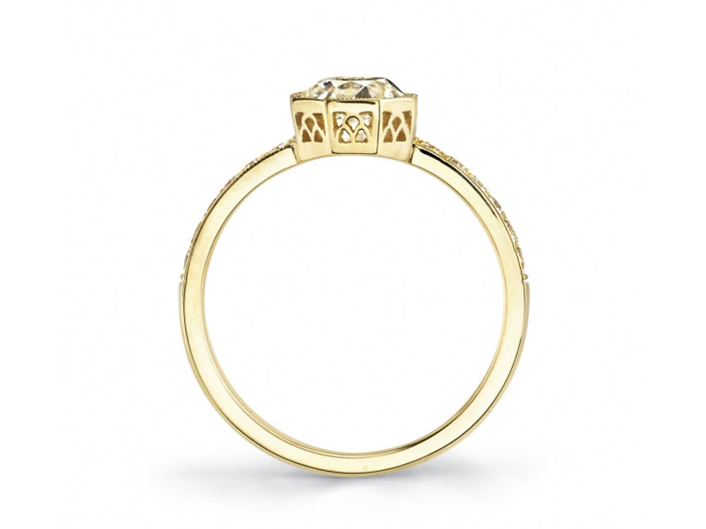 "18K Yellow Gold and Diamond ""Emerson"" Engagement Ring"
