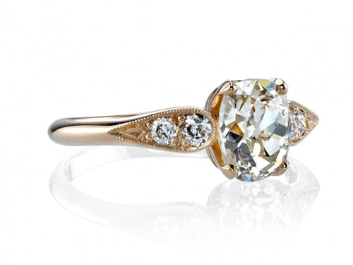 Single Stone rose gold and diamond engagement ring in Washington DC