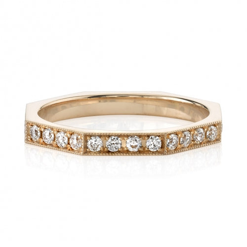 "18K Rose Gold and Diamond ""Reilyn"" Wedding Band"