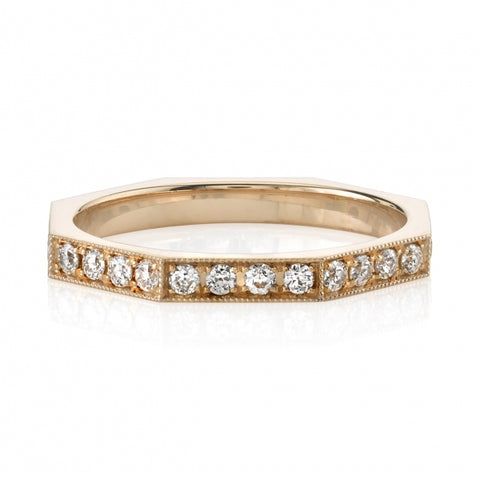 "18K Yellow Gold ""Hazel"" Wedding Band"