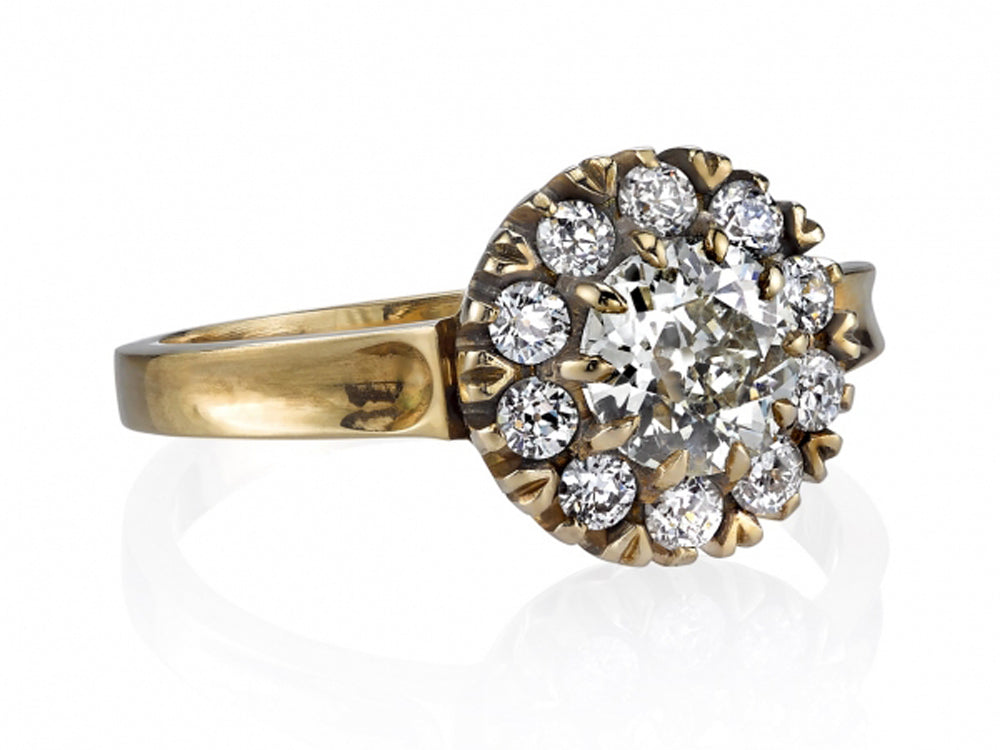"18K Yellow Gold, 18K White Gold and Diamond ""Talia"" Engagement Ring"