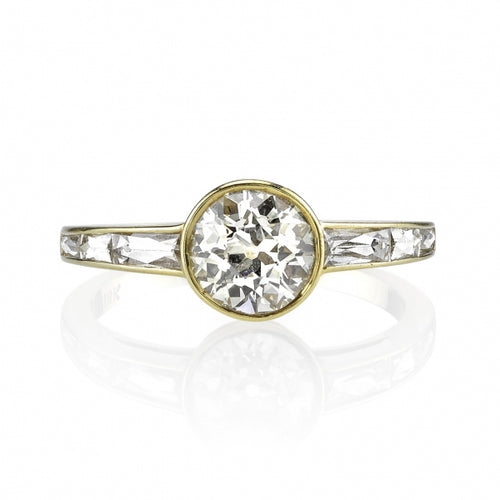 "18K Yellow Gold and Diamond ""Christina"" Engagement Ring"