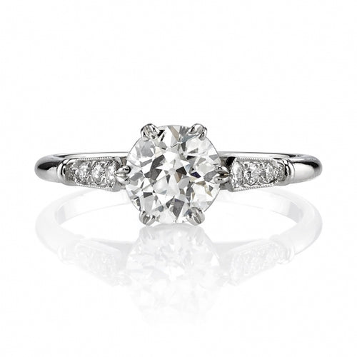 "Platinum and Diamond ""Carmen"" Engagement Ring"