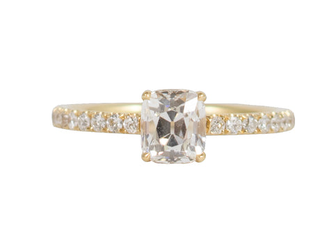 "18K Yellow Gold and Diamond Solitaire ""Blaire"" Engagement Ring"