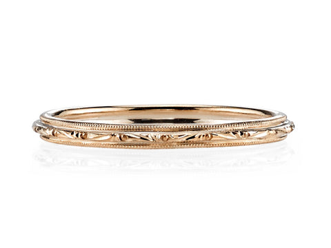 18K White and Yellow Gold Men's Wedding Band
