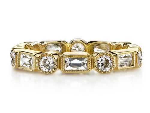 "18K Yellow Gold and Diamond ""Melissa"" Wedding Band"