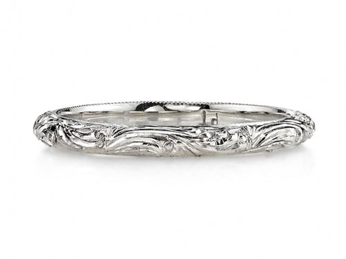 "Platinum ""Natalie"" Wedding Band"