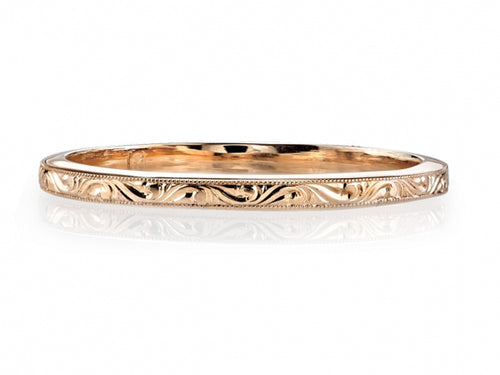 Simple Rose Gold Single Stone Wedding Band in Washington DC