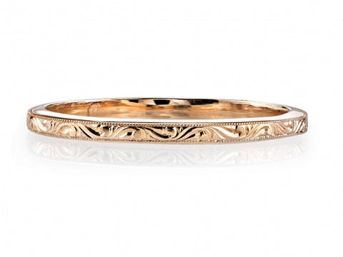 18K Sand Gold Men's Wedding Band