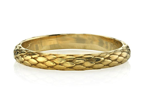 Single Stone Snake Skin Pattern Yellow Gold Wedding Band in Washington DC
