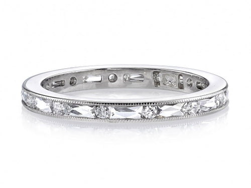 "Platinum and Diamond ""Paige"" Wedding Band"
