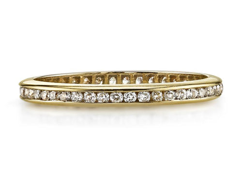 "18K Yellow Gold and Diamond ""Madison"" Wedding Ring"