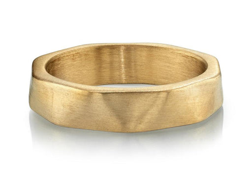 Single Stone Rose Gold Men's Wedding Band in Washington DC