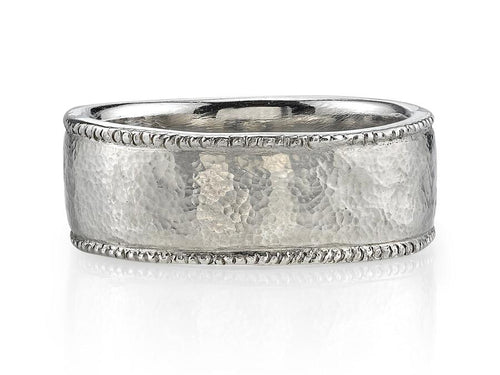 "Platinum ""Constantine"" men's wedding band"