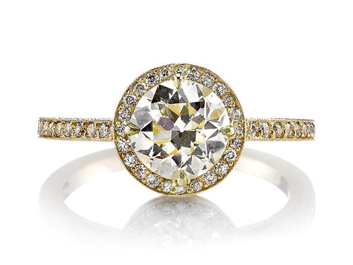 "18K Yellow Gold and Diamond ""Celine"" Engagement Ring"
