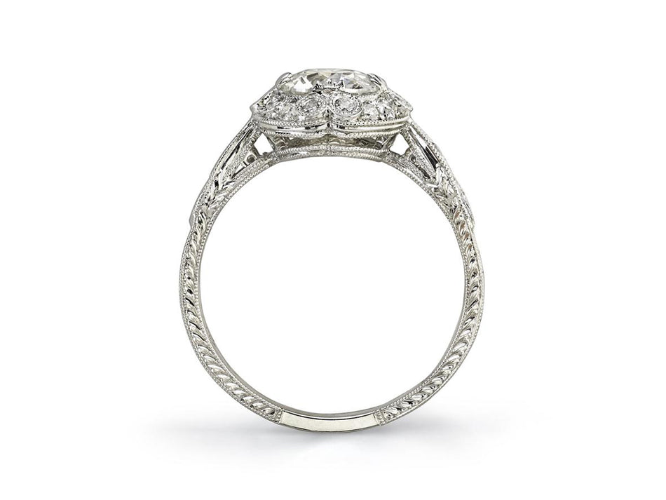 "Single Stone White Gold and Diamond ""Celeste"" Engagement Ring in Washington DC"