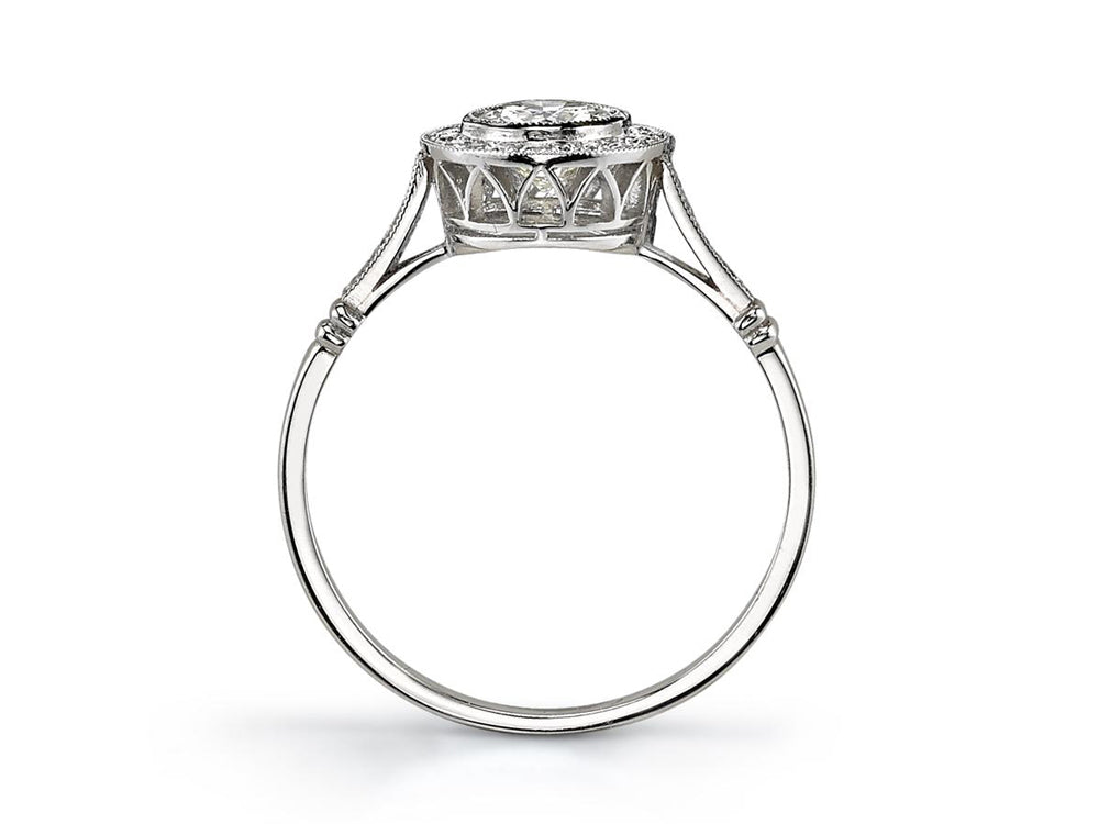 White Gold Single Stone Ring at the Best Jewelry Store in Washington DC